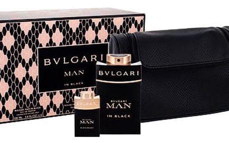 Bvlgari Man In Black EDP dárková sada M - EDP 100 ml + EDP Man In Black Orient 15 ml + kosmetická taška
