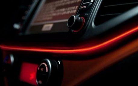 LED světelná páska do auta - červená - dodání do 2 dnů