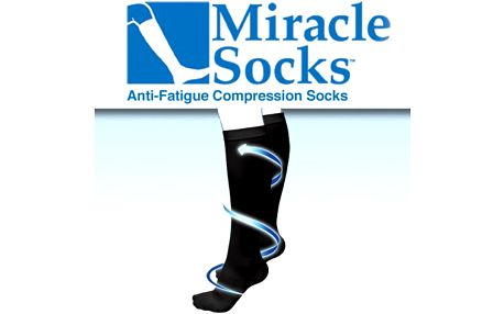 Zdravotní podkolenky Miracle Socks - už žádné oteklé nohy a chodidla!