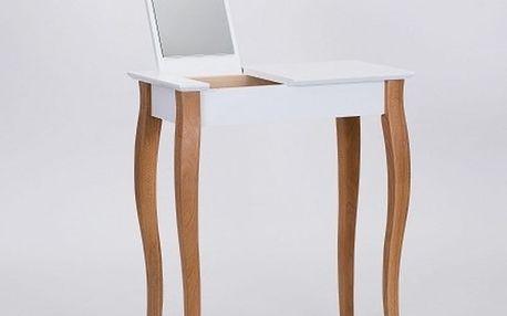 Bílý toaletní stolek se zrcadlem Ragaba Dressing Table,délka65cm