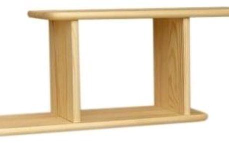 Dřevěná police nr.9 - bezbarvý