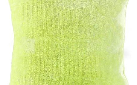 Jahu Polštářek Mikroplyš zelená, 40 x 40 cm