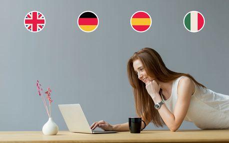 Šestiměsíční online kurz 4 jazyků v jednom