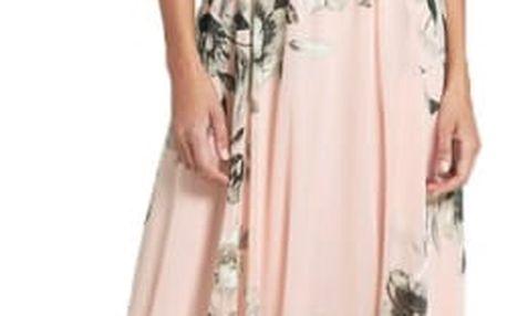 Maxi bohémské šaty s květinovým vzorem