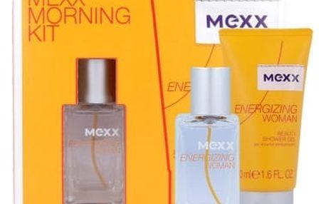 Mexx Energizing Woman dárková kazeta pro ženy toaletní voda 15 ml + sprchový gel 50 ml