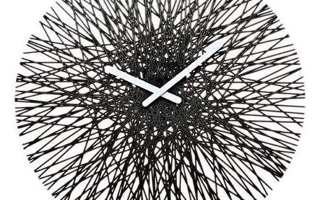 nástěnné hodiny Koziol Silk, černé