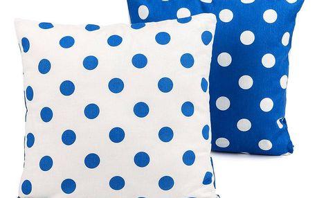 4Home Povlak na polštářek Modrý puntík, 40 x 40 cm