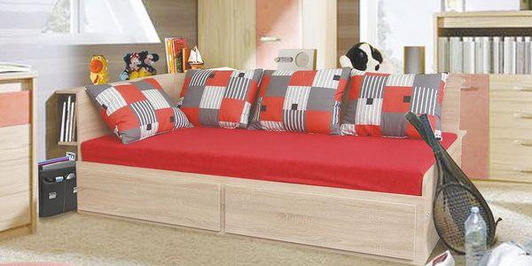 Rozkládací postel s přistýlkou MARKO 90x200 cm včetně roštu