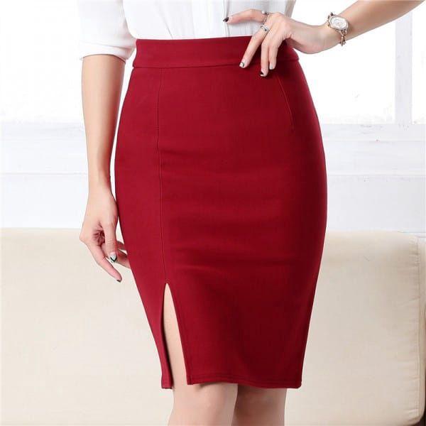 Dámská pouzdrová sukně - 5 barev