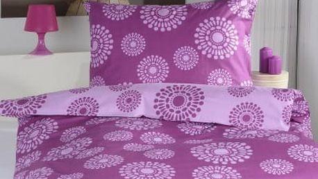 XPOSE ® Prodloužené bavlněné povlečení JANIS DUO - fialová 140x220, 70x90