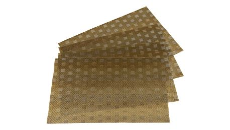 Jahu Prostírání Grid béžová, sada 4 kusů, 30x45 cm