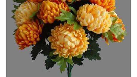 Umělá kytice Chryzantéma, oranžová