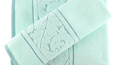 Set mentolově zeleného bavlněného ručníku a osušky Sultan
