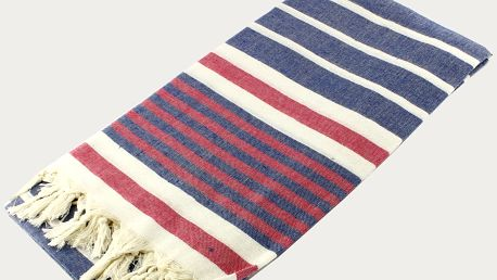 Barevná osuška z čisté bavlny Hammam Alesta Style, 90 x 180 cm