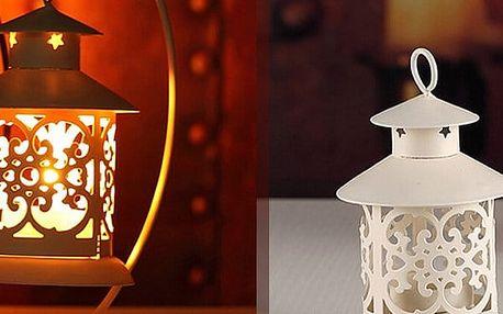 Krásná dekorativní lucerna na ozdobu Vašeho domova. Na výběr ve dvou barvách.