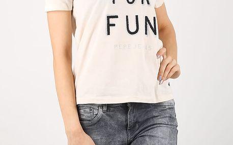 Tričko Pepe Jeans ALBERTA Bílá