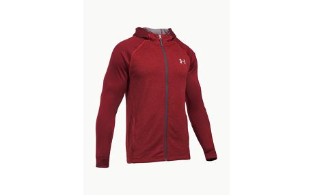Mikina Under Armour Tech Terry Fitted FZ Hoodie Červená