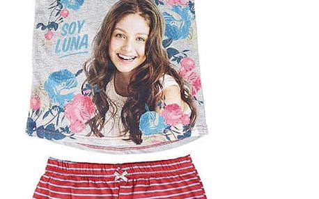 Letní Dívčí Pyžamo Soy Luna Flowers