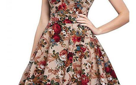 Dámské šaty se vzorem květin - 10 variant