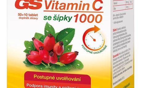 GS Vitamin C 1000 se šípky tbl.50+10