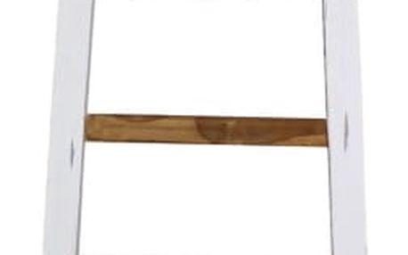 Bílý dekorativní žebřík z teakového dřeva HSM collection Tangga,délka195cm - doprava zdarma!