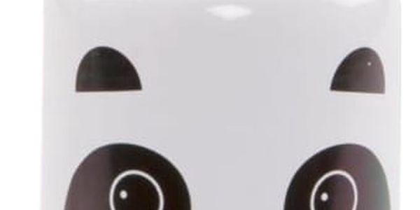 sass & belle Dětská lahev Aiko Panda Kawaii, bílá barva, kov, plast