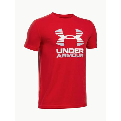 Tričko Under Armour Two Tone Logo SS T Červená