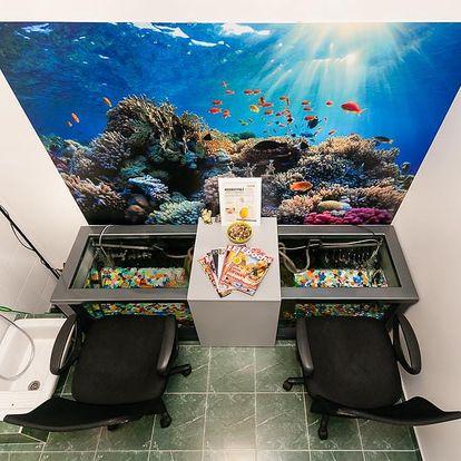 Pedikúra s rybkami Garra Rufa pro 1 či 2 osoby na 30-60 min.