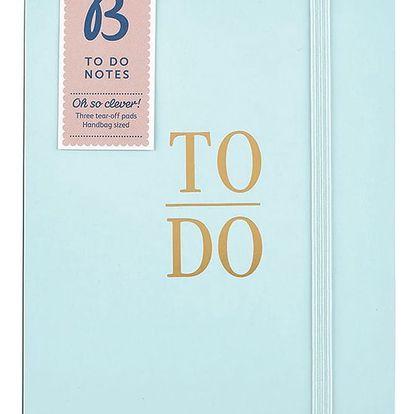 Busy B Set tří trhacích bločků To Do Contemporary, modrá barva, papír