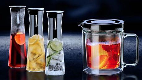 Karafy, konvice a šálky z varného skla Simax