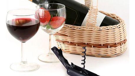 Vývrtka na víno ve tvaru láhve