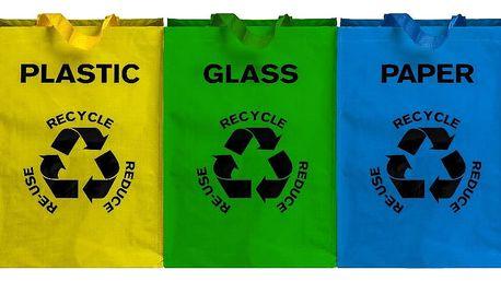 Sada 3 tašek na tříděný odpad Premier Housewares