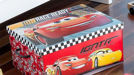 Skládací Box na Hračky Auta 50 x 39 cm