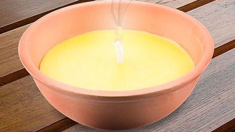 Citronelová Svíčka v Terakotovém Květináči 13 cm
