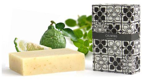 Zklidňující přírodní mýdlo s vůní levandule, pomeranče, bergamotu a majoránky HF Living