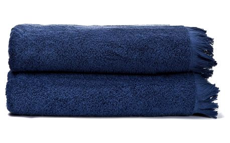 Sada 2 modrých bavlněných osušek Casa Di Bassi Bath, 100x160cm