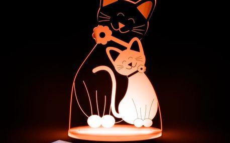 Dětské LED noční světýlko Aloka Cat