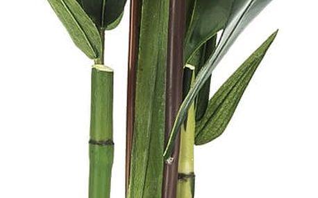 Aranžmá umělých květin Helicarie a bambusu