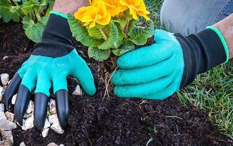 Zahradnické Rukavice se Čtyřmi Drápy Garden + Greenhouse