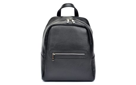 Černý kožený batoh Roberta M Pull