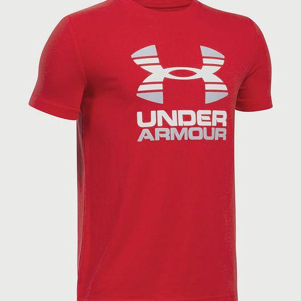 Tričko Under Armour Two Tone Logo SS T Červená