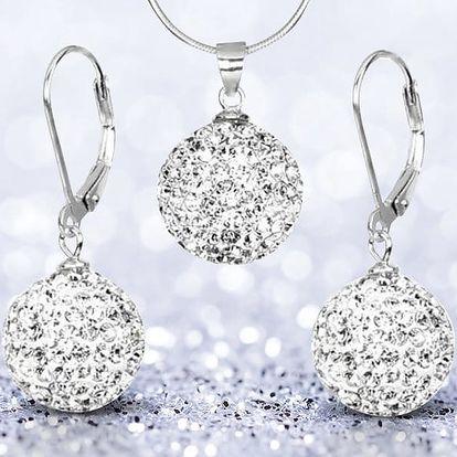 Krásná náušnice a přívěsek Crystals from Swarovski