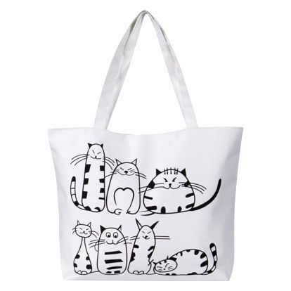Dámská kabelka s kočkami - 2 barvy