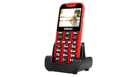 Mobilní telefon Evolveo EVOLVEO EasyPhone XD pro seniory červený (EP-600-XDR)