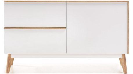 Bílá komoda La Forma Meety, délka 120 cm