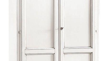 Bílá dvoudveřová šatní skříň Castagnetti Guardaroba