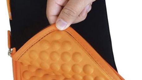 """Pouzdro na tablet GoGEN neoprenové pro 10,1"""" černé/oranžové (GOGTA10CASEO)"""