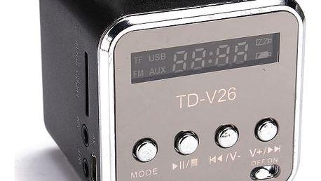 Přenosné mini stereo FM rádio a MP3 hudební přehrávač