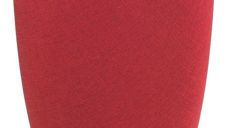 Červený koš na prádlo a taburetka v jednom Wenko Linen Look, 20l