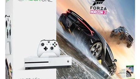 Herní konzole Microsoft Xbox One S 500 GB + Forza Horizon 3 bílá (ZQ9-00118)